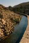 Israel, water conduit along Wadi Qilt
