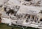 Crusader city, aerial view, Caesarea, Israel