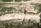 Israel, Dor, aerial excavations on the Tel and below the water line