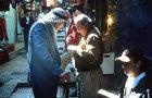 Israel, Jerusalem, Old City David Street Jews and Palestinians shopping