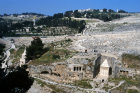 Israel Jerusalem Kidron Valley tombs and Jewish Cemetery on the Mount of Olives