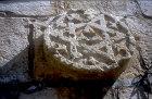 Carved stone roundel with star of David, sixteenth century, Jerusalem, Israel