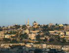 Israel, Jerusalem, Mount Zion and St Peter in Gallicantu at sunrise