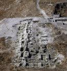 Tel Gezer, aerial view of ruins, Israel