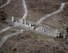Israel, Gezer, aerial view of standing stones near the High Place 1800 BC