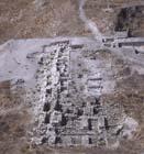 Solomonic Gate, aerial view, Gezer, Israel