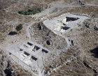 Tel Gath, aerial view of ruins, Israel