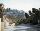 Israel, Jerusalem, looking south down the Kidron Valley to Silwan village