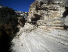 Israel, Jerusalem, the City of David the newly excavated Siloam Springs looking south