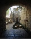Israel, Jerusalem, pool of Siloam, looking out of Hezekiah