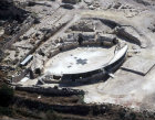 Amphitheatre, 200 AD, aerial, Bet Guvrin, ancient Eleutheropolis, Israel
