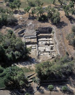 Israel, Ashkelon, aerial view of the ruins