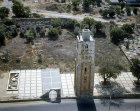 Ramla, aerial view of 30 metre high white tower, once part of Umayyad mosqu,  built 1318 by Mamluk sultan, Muhammad ibn Qalaun, Israel
