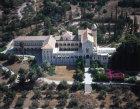 Israel, Latrun,  aerial view of Cistercian monastery near Emmaus, rebuilt 1927