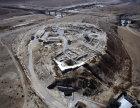 Tel, aerial view from East North East, Beersheva, Negev, Israel