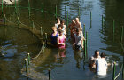 Israel, River Jordan, Pentecostal Baptism, full immersion in the river