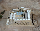 Israel, Nabi Musa or Nebi Musa, begun 13th century  extended 15th century, restored 19th century, aerial view looking north