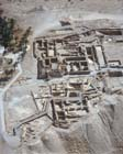 Qumran, aerial view looking east over scriptorium, Israel