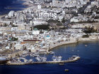 Aerial view looking north across the city, Acre, Israel