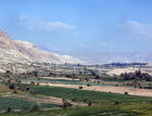 Israel, cultivated valley west of Jericho