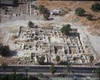 Tiberias, aerial view of ruins of ancient city, Galilee, Israel