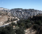 Israel, Jerusalem, Silwan village seen from Hinnom valley