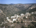 Montfort crusader castle, aerial,  fortress of knights of Tuetonic order, Israel