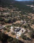 Synagogue,  3rd to 4th century, Meron near Mt Arbel, aerial view, Upper Galilee, Israel