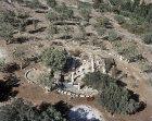 Gush Halav Synagogue, circa 250 AD, aerial view, Israel