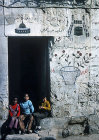 Israel, Jerusalem, doorway of Muslim who has visited Mecca