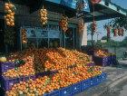 Israel, Jericho, stalls outside fruit shop