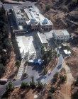 Israel, Galilee, Tiberias, aerial view of synagogue Rabbi Akiva and rabbi