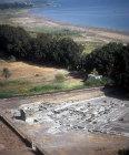 Magdala, aerial view of city on shore of Sea of Galilee, three miles north of Tiberias, Galilee, Israel