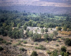 Bethsaida Tel, aerial view from South East, Galilee, Israel