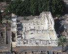 Synagogue, fourth century AD, aerial view, Capernaum, Israel