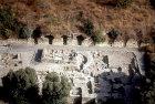 Israel, Banyas, aerial view of palace of Agrippa II