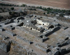 Belvoir crusader castle, begun by Knights Hospitallers in 1168, aerial view from south east, Belvoir, Israel