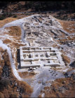 Israel, Beth Shean, aerial view of recent excavations on top of the Tel