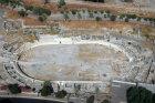 Israel, Hippodrome, Beth Shean, aerial view
