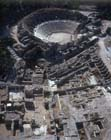 Beth Shean, aerial view of the theatre and ruins, Israel