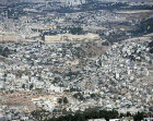 Israel, Jerusalem, aerial of Silwan Village in the Kidron Vallrey