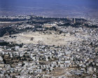 Israel, Jerusalem, aerial view of the Mount of Olives from the south