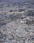 Davids City from the south, aerial view, Jerusalem, Israel