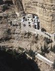 Israel, aerial St Georges Monastery in Wadi Qilt
