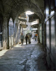 Israel, Jerusalem,  a street in the old city in the early morning