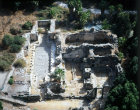 Israel, Hammath Gader, aerial view of 2nd century to 3rd century AD Roman baths