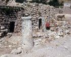 Israel, Bethany primitive house, Roman column and donkey