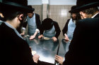 Israel Jerusalem Ultra-Orthodox Jews make Matza for Pesach  Passover Festival