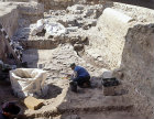 Israel, Beth Shean, archaeologist working on the site