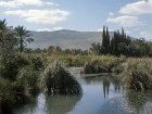 Israel, the River Harod and the Gilboa Range beyond